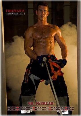 Mr. Februar - Wiener Feuerwehr-Kalender 2012