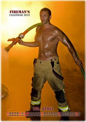 Mr. April - Wiener Feuerwehr-Kalender 2012