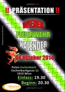 Plakat Präsentation Wiener Feuerwehrkalender 2015