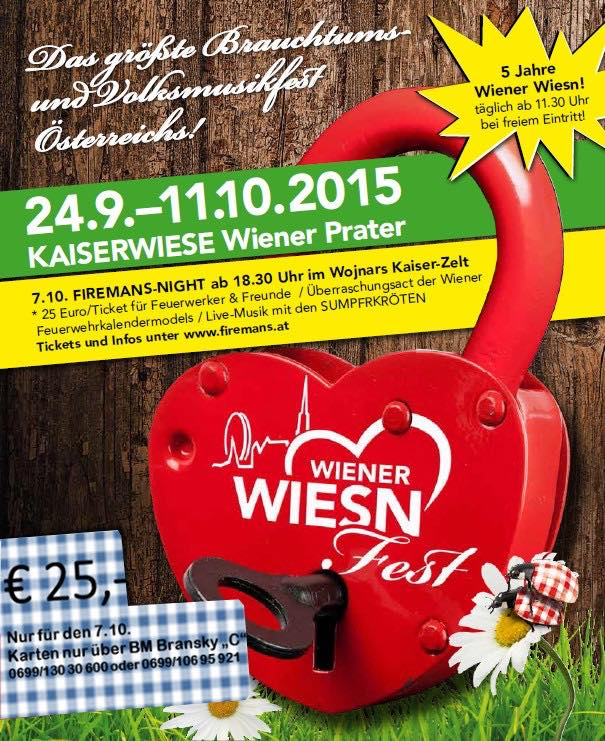 Wiener Wiesn 2015 - Fireman's Night