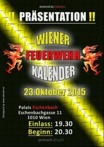 Plakat Präsentation Wiener Feuerwehr-Kalender 2016