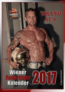 Cover Fireman's Calendar Berufsfeuerwehr Wien 2017