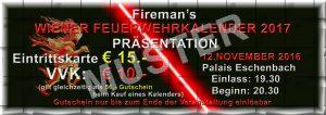 Fireman's Kalender Präsentation 2017 - Muster-Eintrittskarte