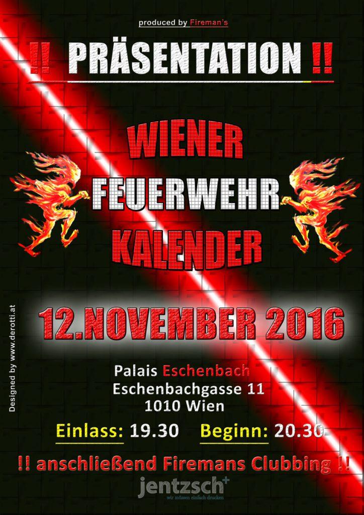 Präsentationsshow Wiener Feuerwehr-Kalender 2017 Plakat