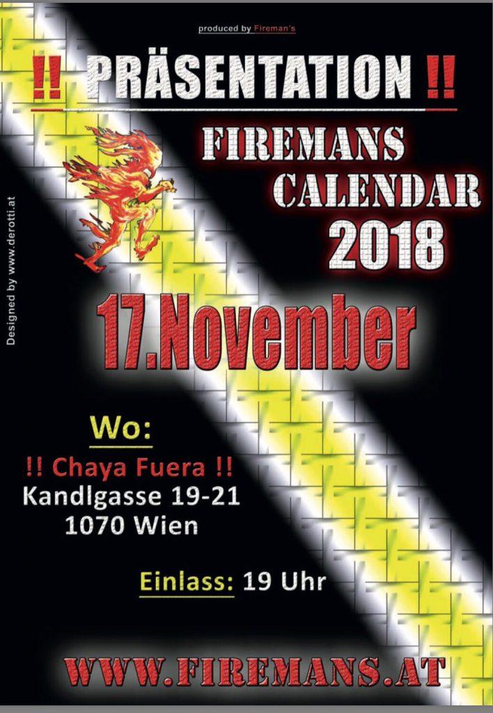 Feuerwehr Kalender Präsentation November 2017 Wien