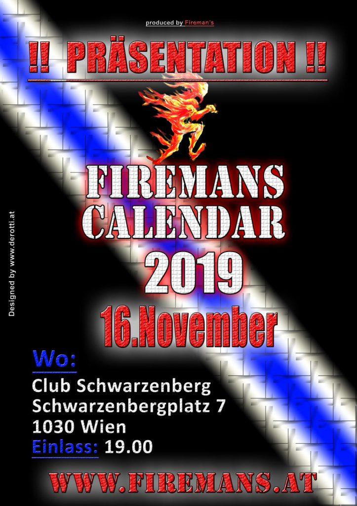 Präsentation Feuerwehr-Kalender 2019 der Berufsfeuerwehr Wien