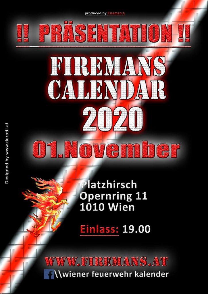 Präsentation Wiener Feuerwehr-Kalender 2020
